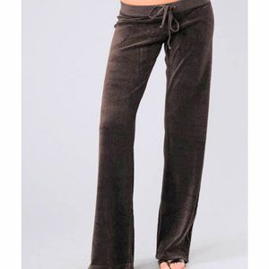 Juicy Couture Brown Velvour Tracksuit Pants